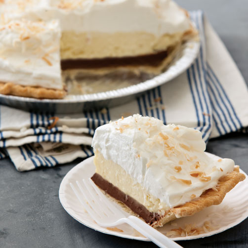 Black-Bottom Coconut Cream Pie Recipe