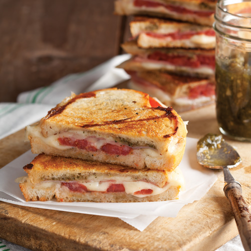 Panini with Prosciutto and Sage Pesto