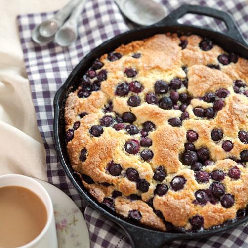 Blueberry Cornmeal Skillet Cake
