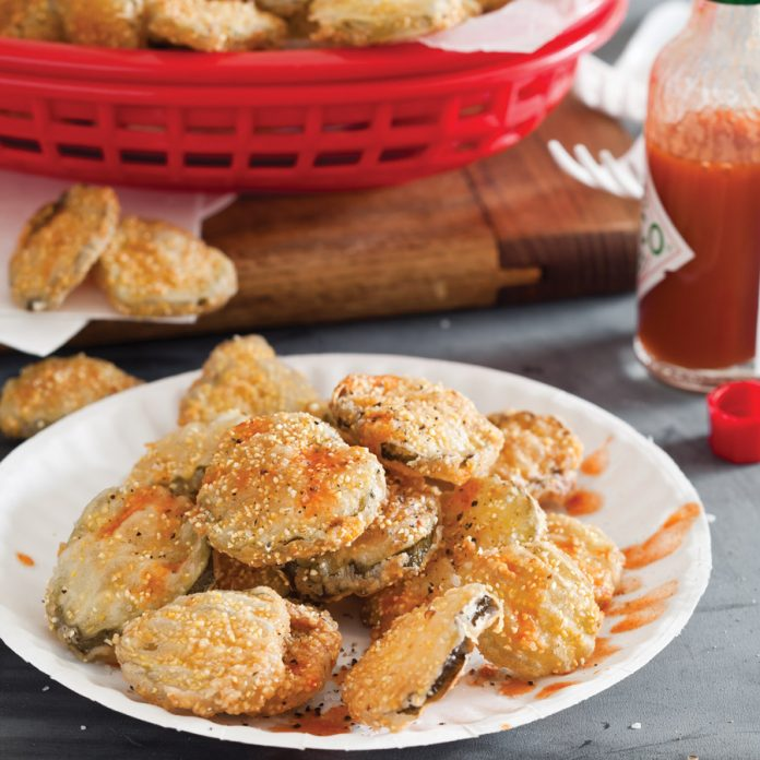 Crunchy Grits-FrIed Dill Pickles