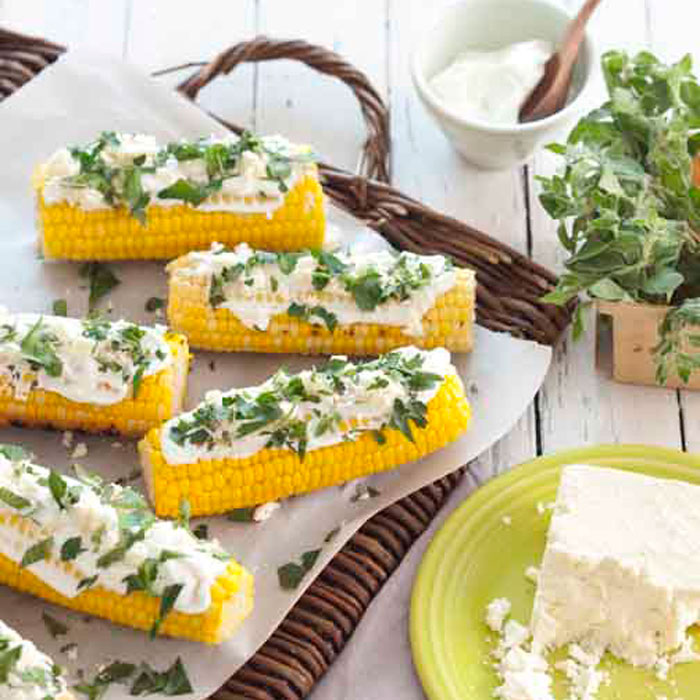 Grilled-Greek-Corn