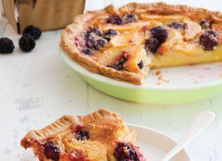 Peach-Blackberry-Buttermilk-Pie