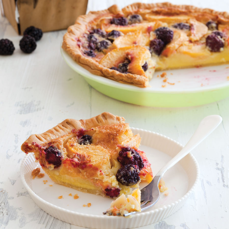 Peach-Blackberry Buttermilk Pie Recipe - Taste of the South Magazine