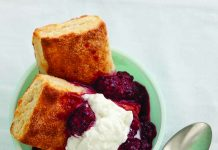 Virginia Willis' Mama's Sweet Biscuits with Stewed Blackberries