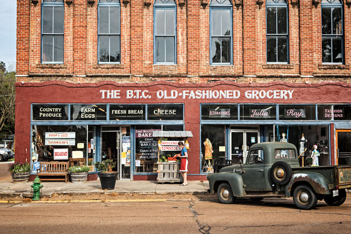 B.T.C. Old-Fashioned Grocery Storefront