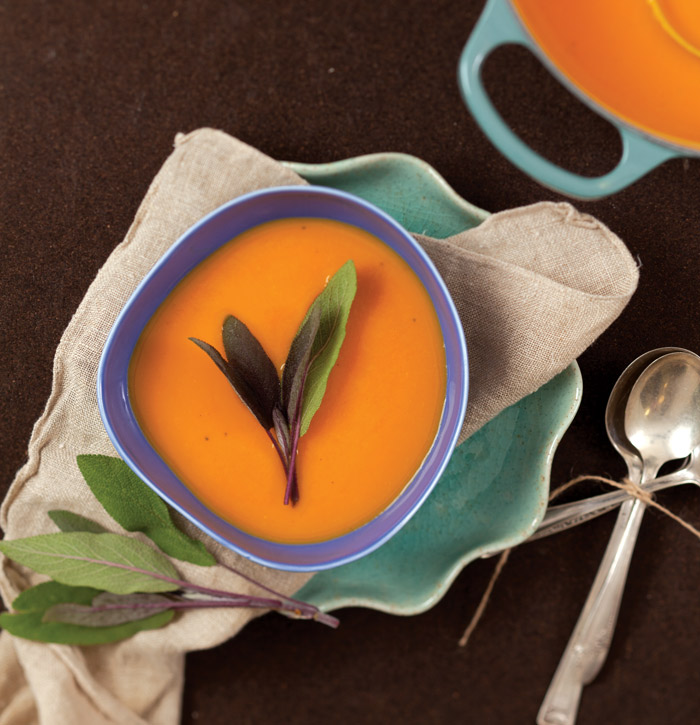 Butternut Squash, Apple And Sage Soup Recipe — Dishmaps