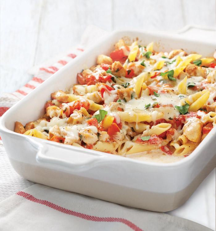 Fresh-Tomato-and-Chicken-Pasta-Bake