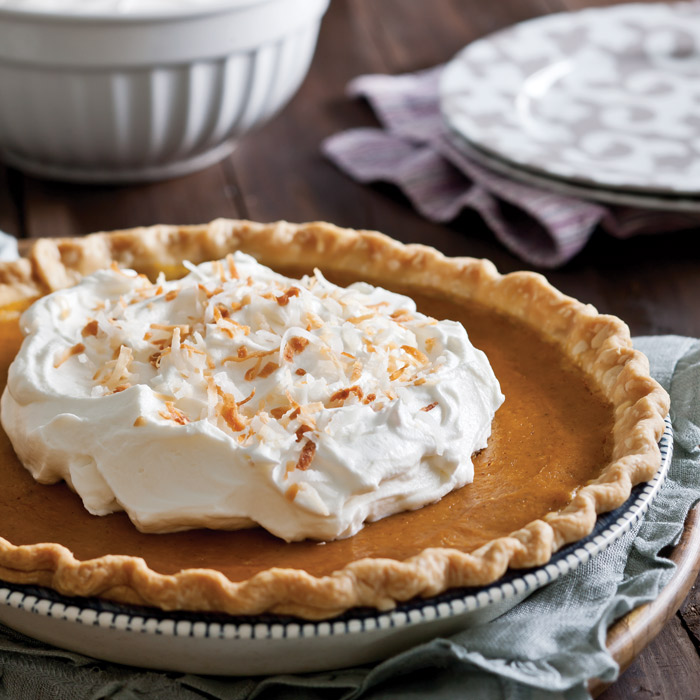 Pumpkin-Pie-with-Coconut-Whipped-Cream