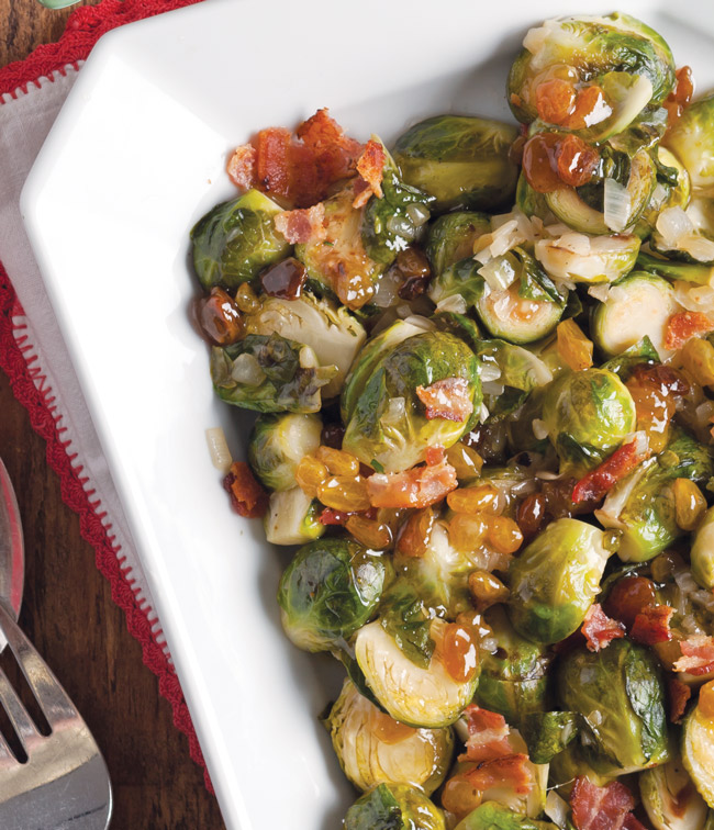 Brussels Sprouts with Golden Raisins and Bacon - Taste of the South ...