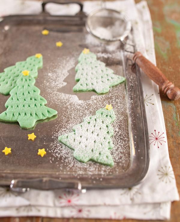 Lime Christmas Tree Cookies