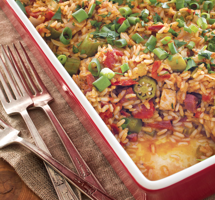 Turkey Gumbo Casserole - Taste of the South