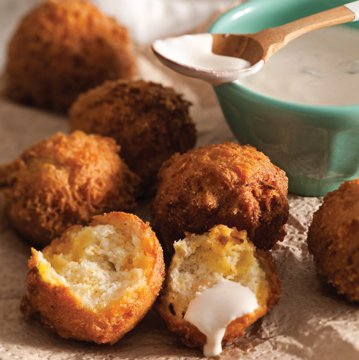 Cheddar-Chile Hush Puppies - Taste of the South Magazine