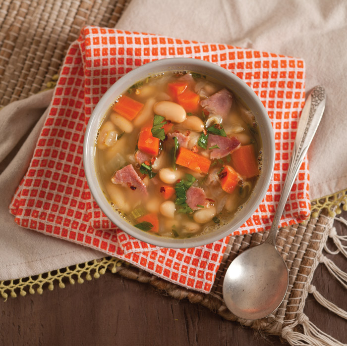 White Bean and Country Ham Soup - Taste of the South Magazine
