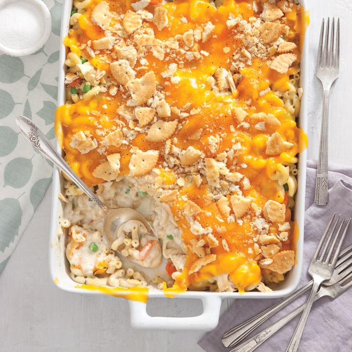 Chicken Pot Pie Mac And Cheese