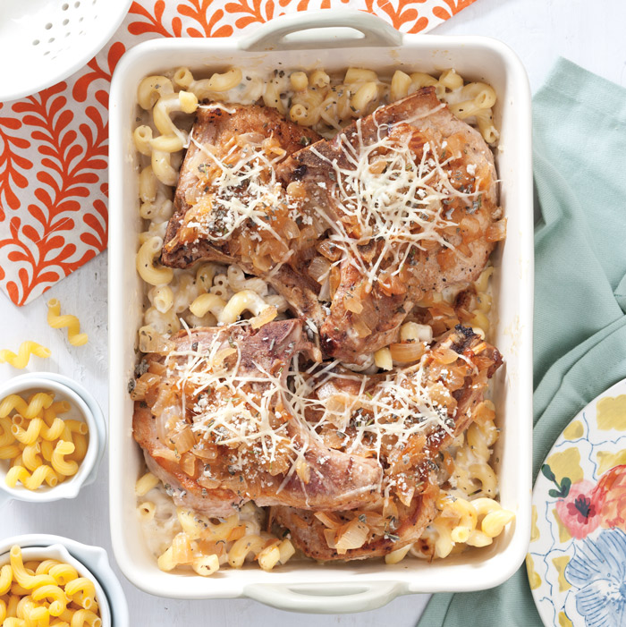 Macaroni And Cheese With Pork Chops