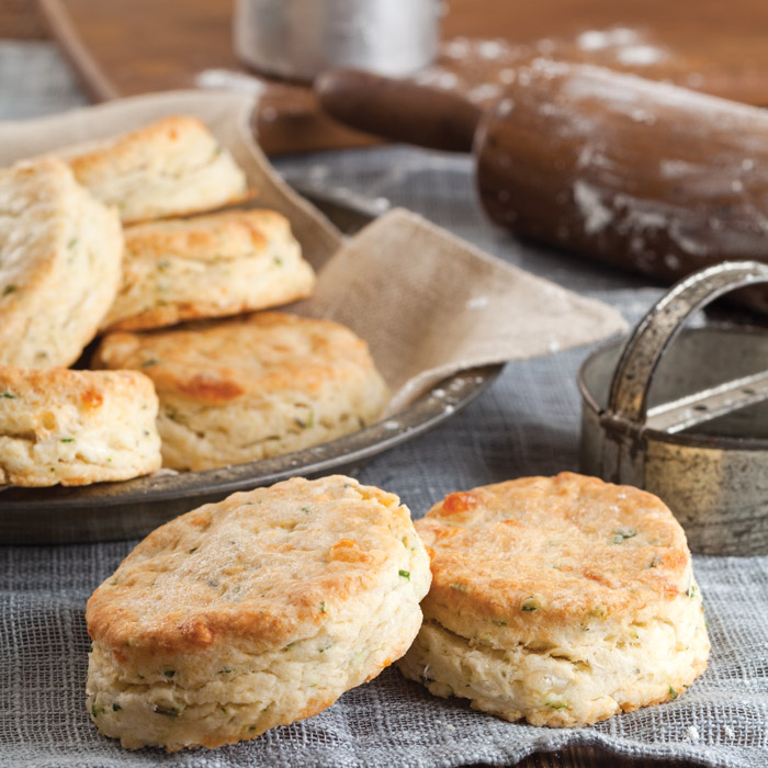White Cheddar Herbed Biscuits - Taste of the South Magazine