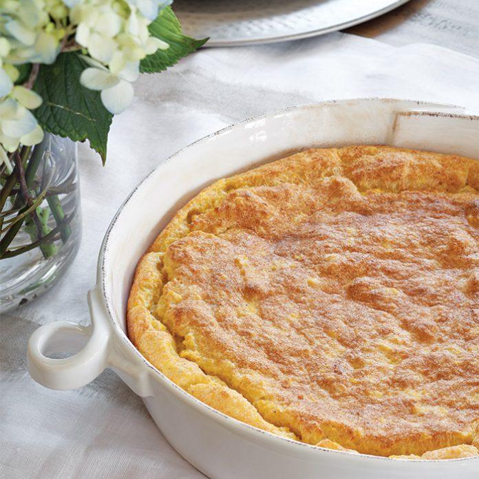 Roasted Garlic Spoonbread