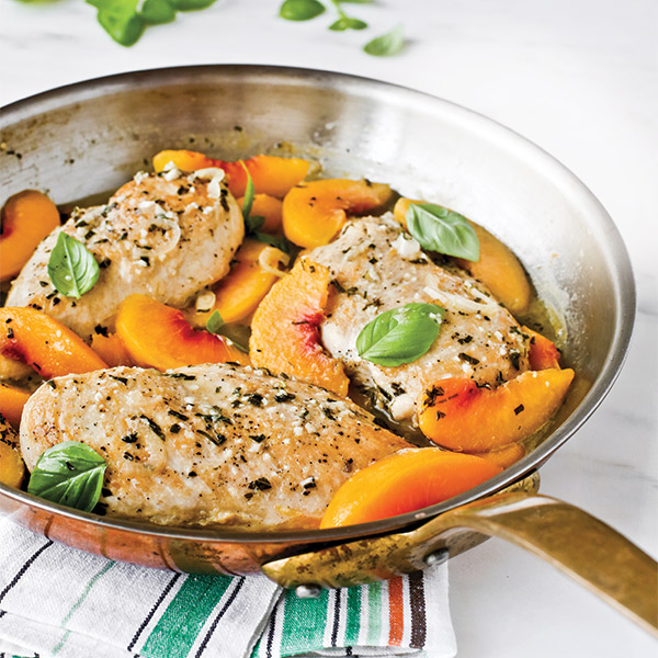 Basil-Peach Chicken Breasts