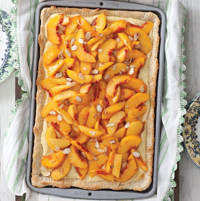 Peaches and Cream Tart - Taste of the South Magazine