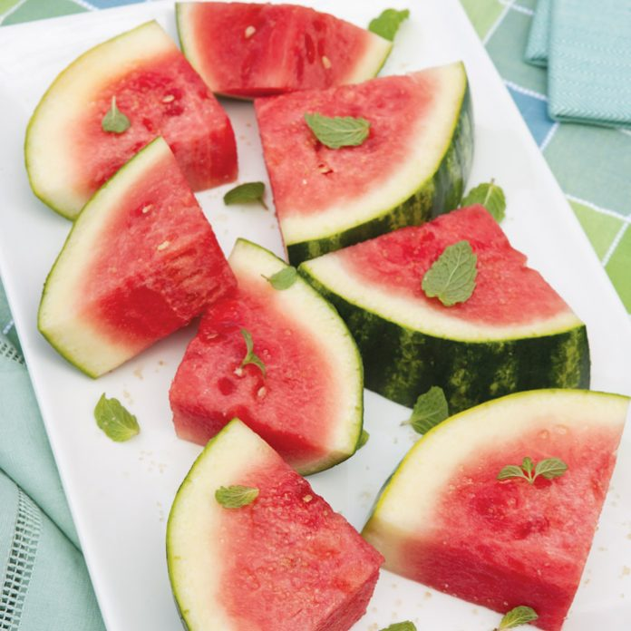 Watermelon with Lime and Mint
