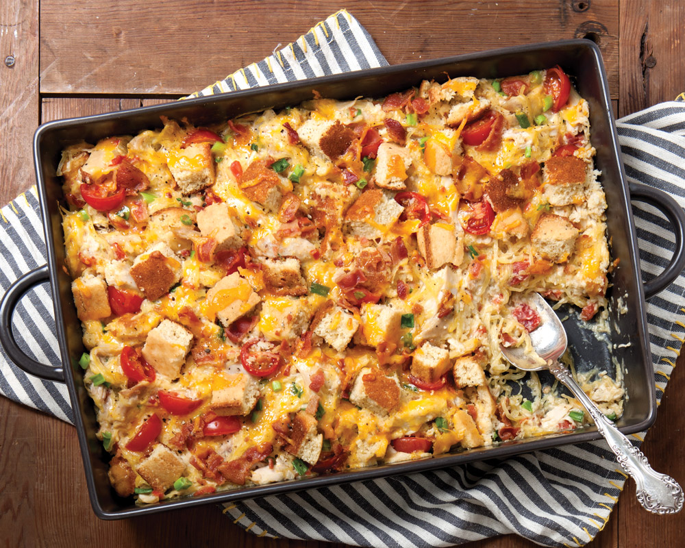 Chicken Spaghetti Squash Casserole - Taste of the South Magazine