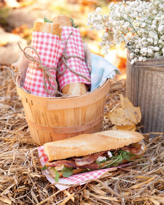 Bacon, Fig, and Arugula Sandwiches