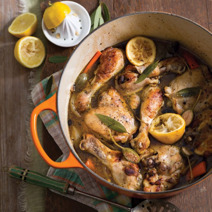 Southern Cast Iron Lemon Capers Chicken