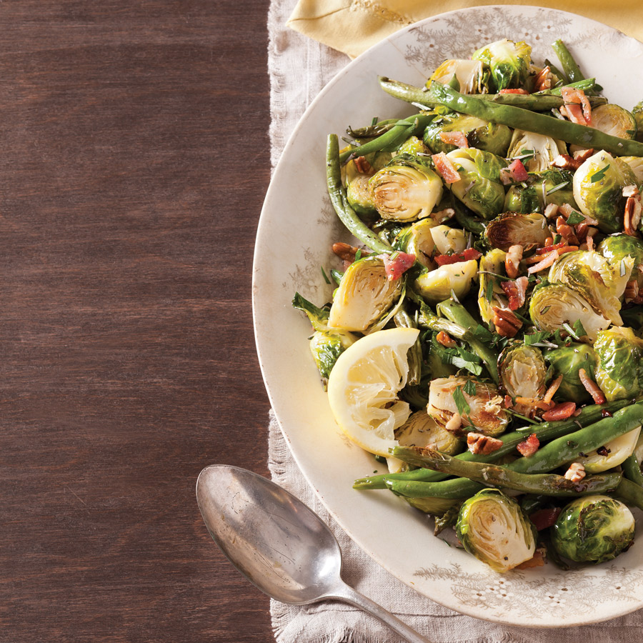 Brussels Sprouts and Green Beans with Lemon Butter
