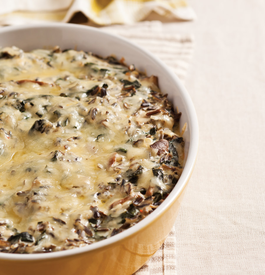 Thanksgiving side dishes - Kale and Wild Rice Casserole