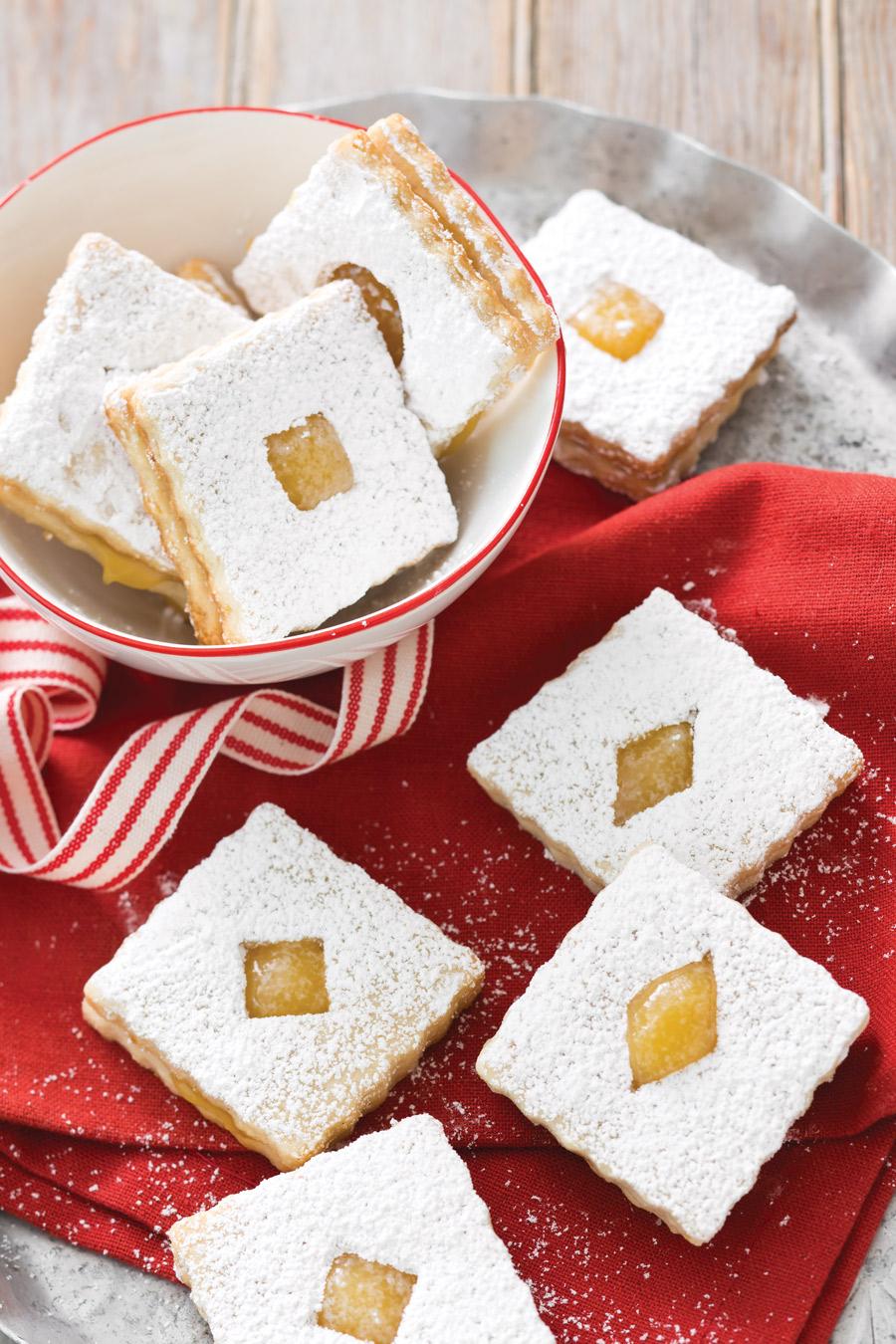 Lemon Linzer Cookies