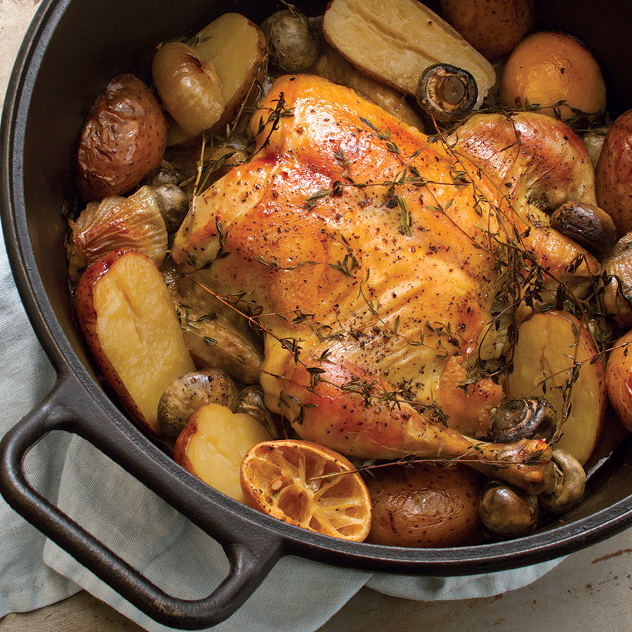 easy chicken pot roast taste of the south