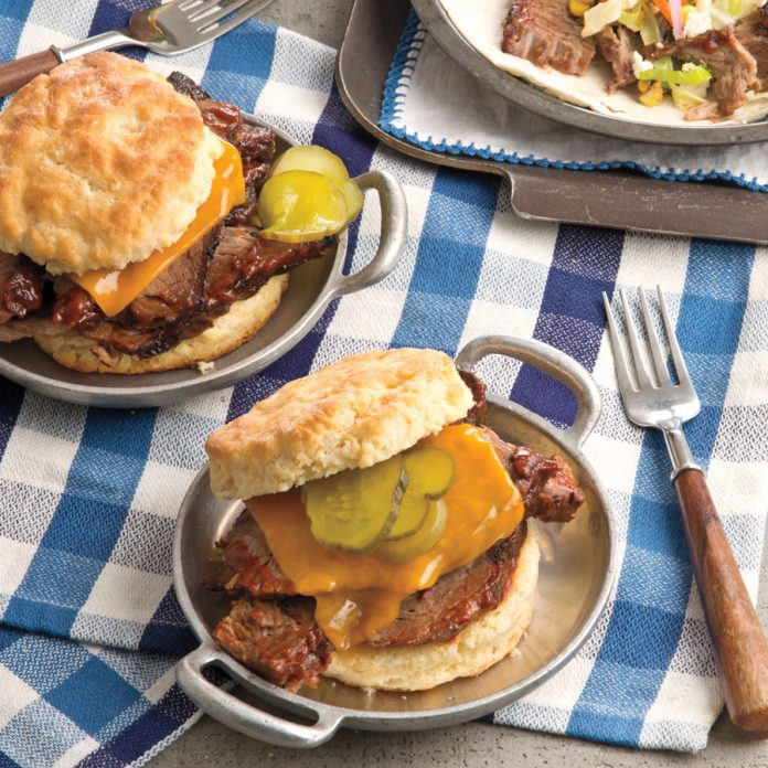 biscuits and brisket