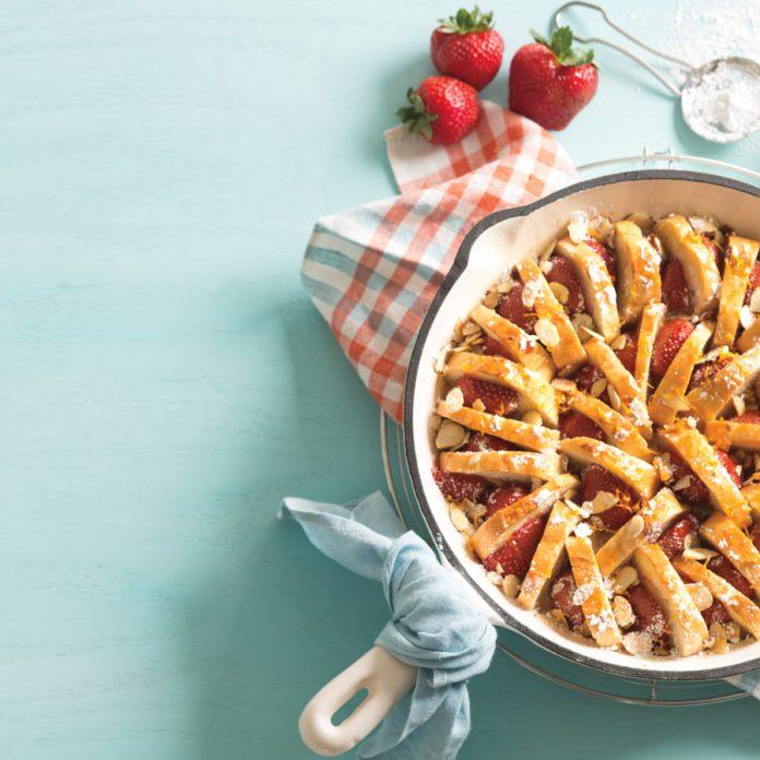 strawberry almond french toast casserole