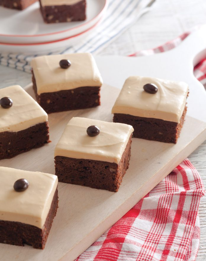 Brownies with Community® Coffee–Caramel Frosting