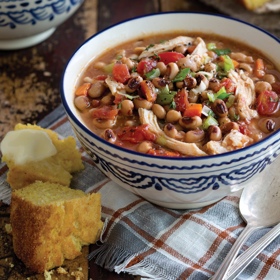 Chicken And Black Eyed Pea Stew
