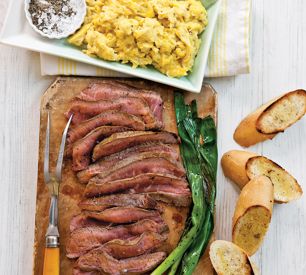steak and eggs breakfast recipe