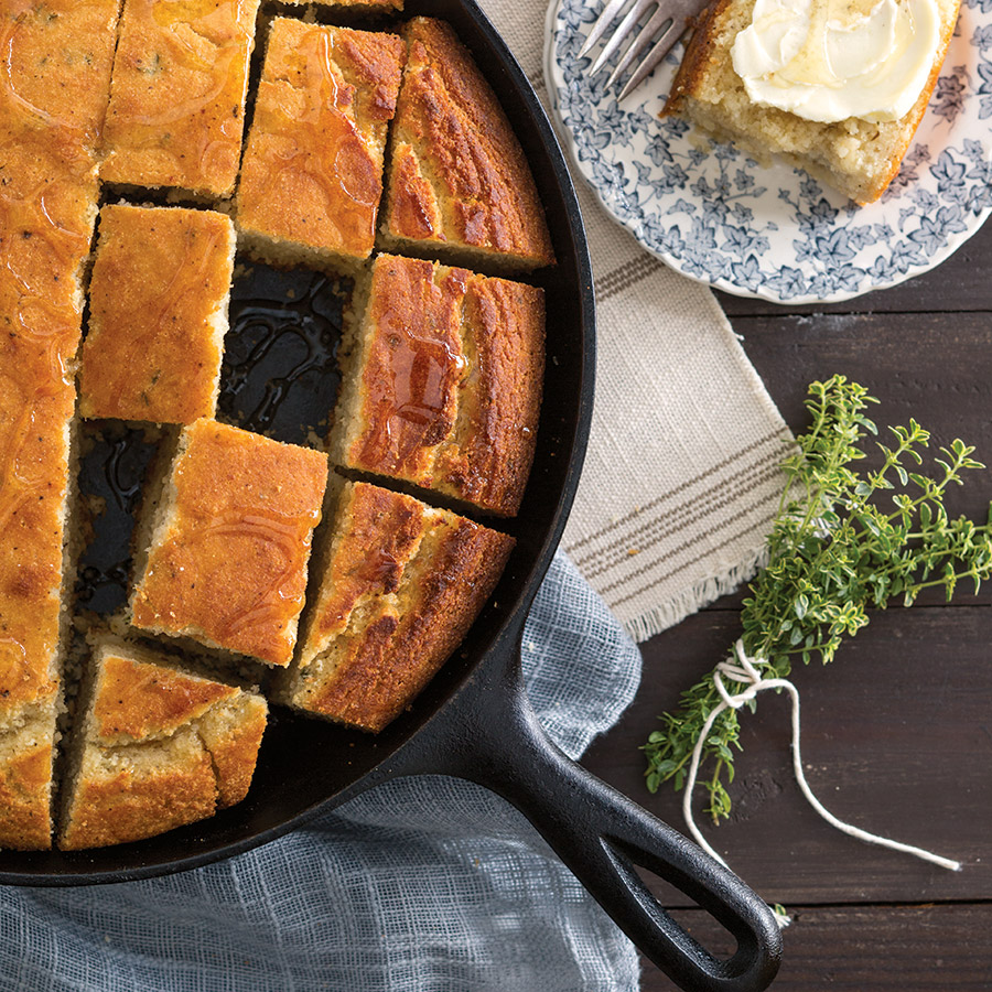 Brown Butter and Thyme Cornbread - Taste of the South
