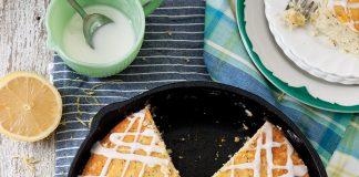 Lemon Poppy Seed Skillet Cake
