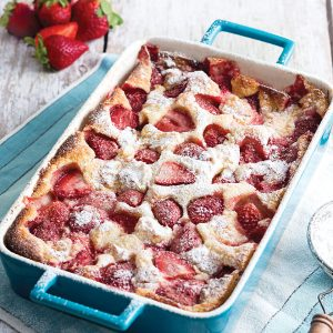 Strawberry Cheesecake Cobbler