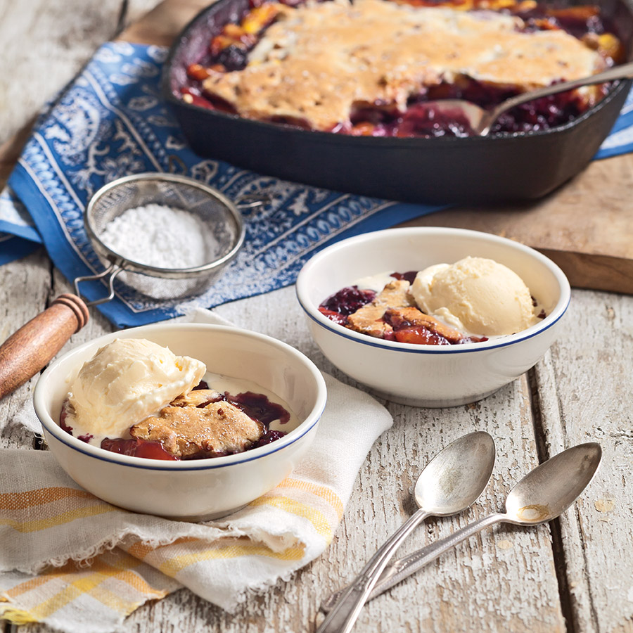 Blackberry-Nectarine Cobbler..