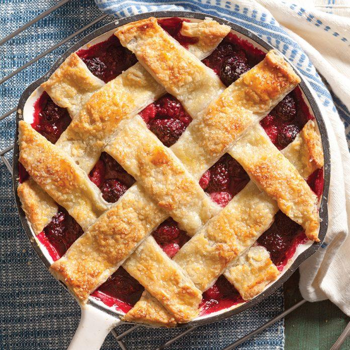 Raspberry-Blackberry Sour Cream Pie