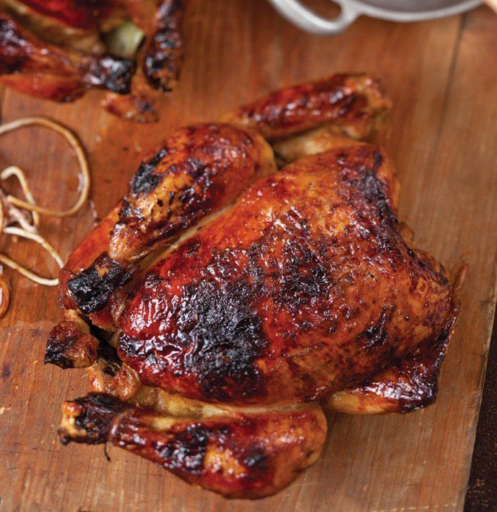 Apple Cider-Glazed Roasted Chickens