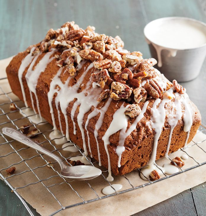 Sweet Potato Bread with Candied Pecans