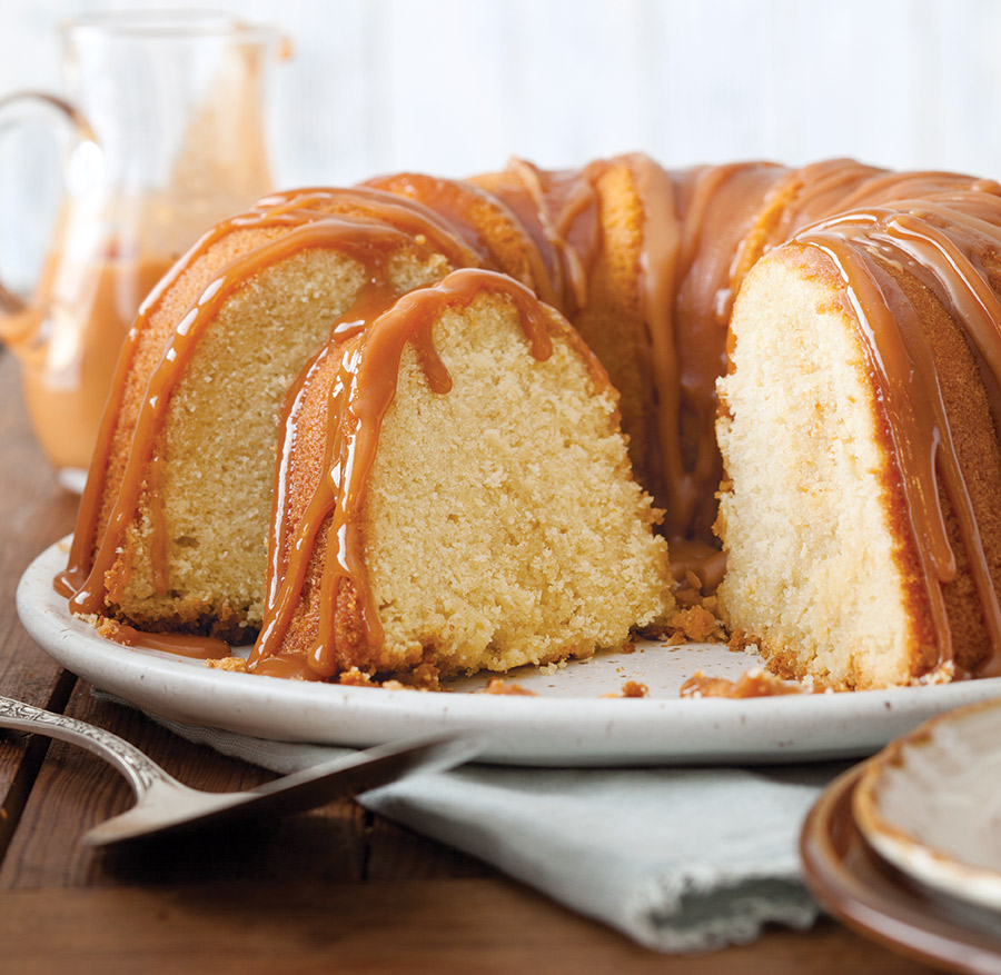 Vanilla Bundt Cake With Caramel Sauce Taste Of The South