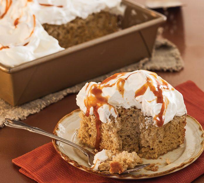 Pumpkin Spice Tres Leches Cake