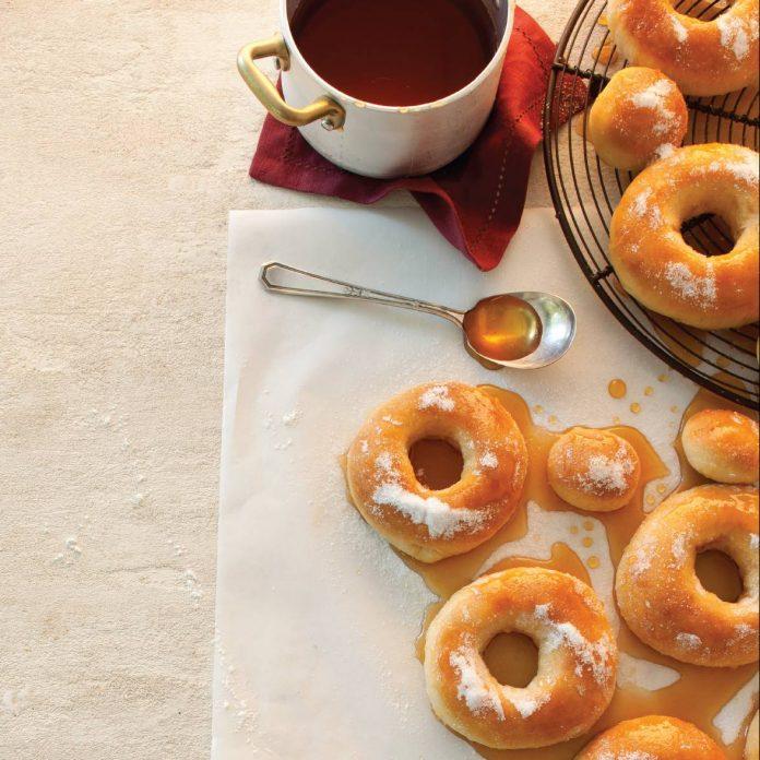 Ciderglazed doughnuts