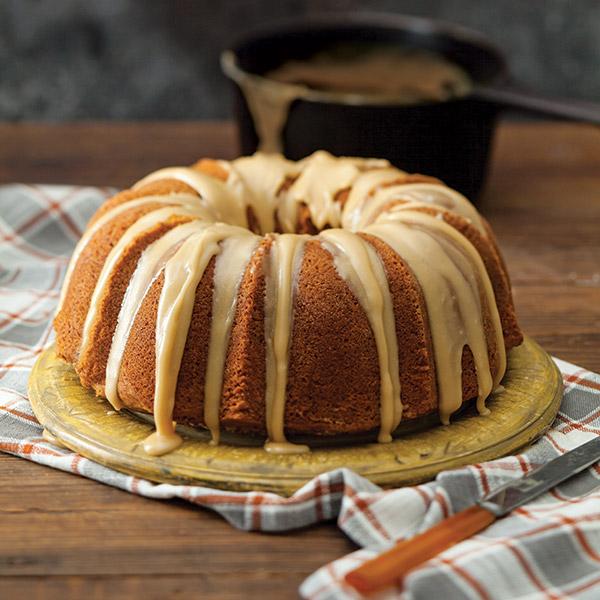 Caramel-Glazed Brown Sugar Bundt Cake