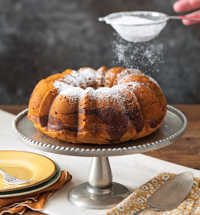 Pumpkin-Chocolate Swirl Bundt Cake