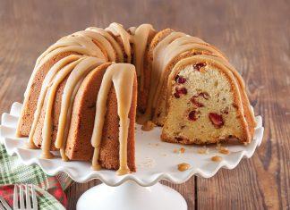 Caramel Cranberry Bundt Cake