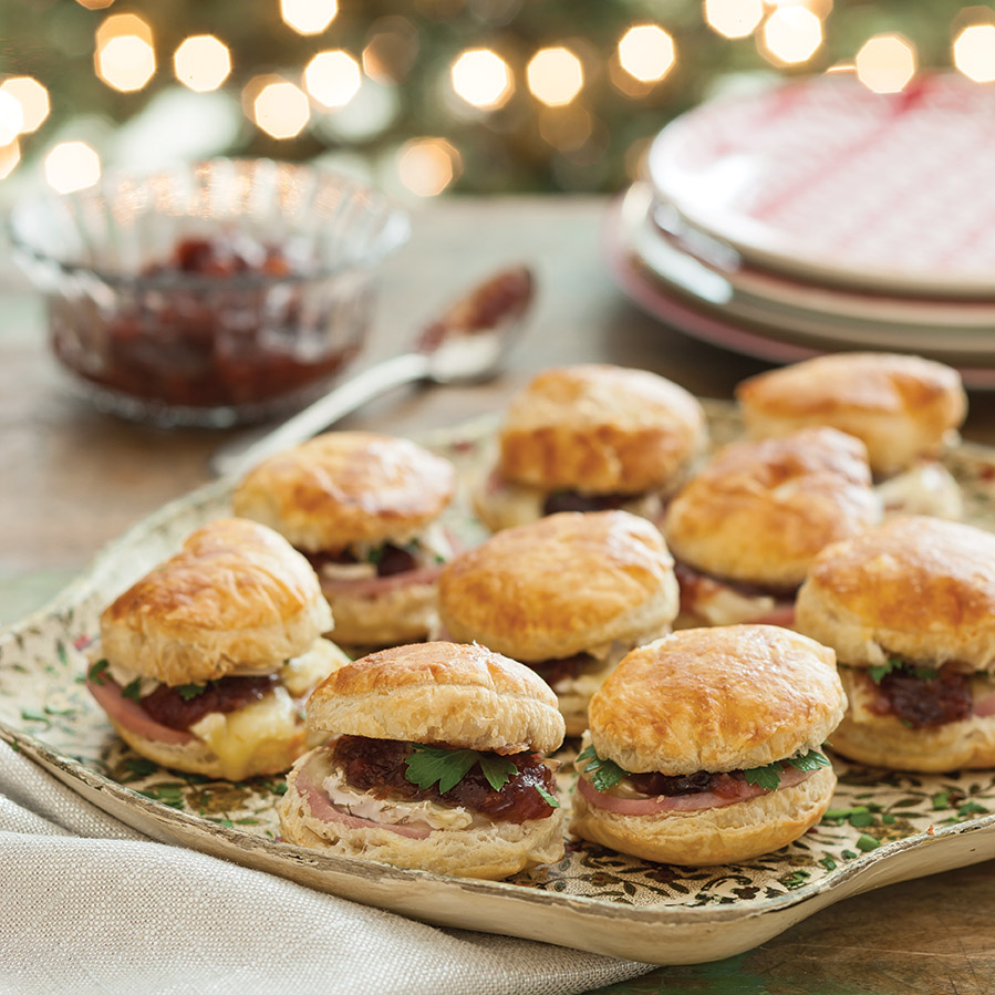 Ham and Chutney Biscuits